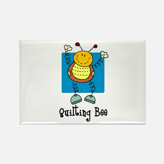 Quilting Bee Rectangle Magnet