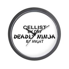Cellist Deadly Ninja Wall Clock
