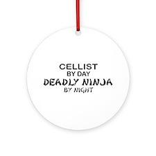 Cellist Deadly Ninja Ornament (Round)