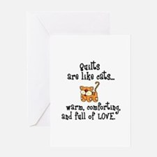 Quilts Are Like Cats Greeting Card