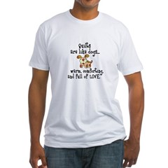 Dogs Are Like Quilts Fitted T-Shirt