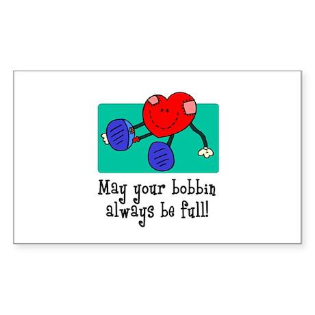 May Your Bobbin Be Full - Sew Sticker (Rectangular
