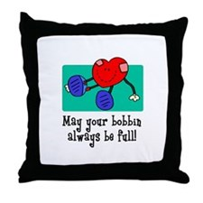 May Your Bobbin Be Full - Sew Throw Pillow