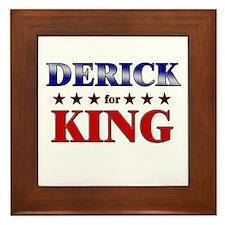 DERICK for king Framed Tile