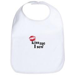 Kiss Me I Sew Bib