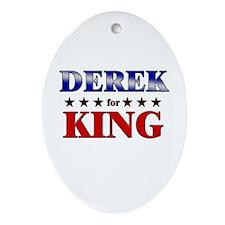DEREK for king Oval Ornament
