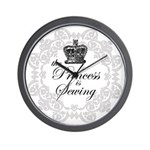 The Princess is Sewing Wall Clock
