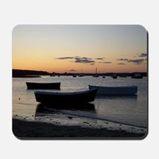 Maine Dinghy Boat Sunset Mousepad