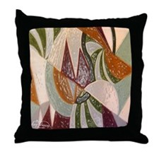 Earthtone Abstract Throw Pillow