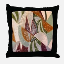 Earthtone Abstract Throw Pillow