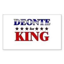 DEONTE for king Rectangle Decal