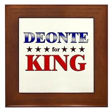 DEONTE for king Framed Tile