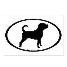 Puggle Dog Oval Postcards (Package of 8)