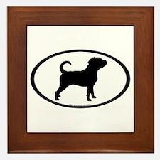 Puggle Dog Oval Framed Tile