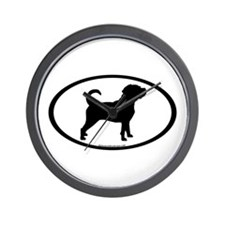 Puggle Dog Oval Wall Clock