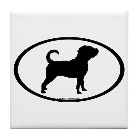 Puggle Dog Oval Tile Coaster