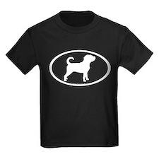 Puggle Dog Oval T