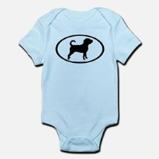 Puggle Dog Oval Infant Bodysuit