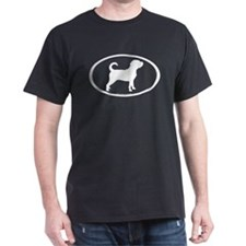 Puggle Dog Oval T-Shirt