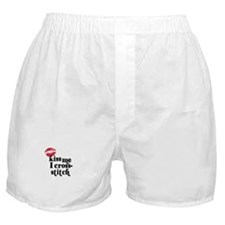 Kiss Me I Cross-Stitch Boxer Shorts