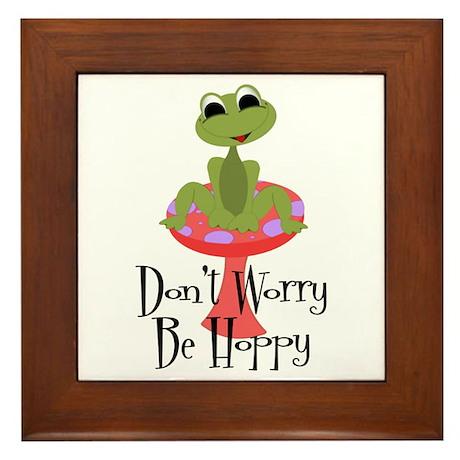 Don't Worry Be Hoppy Framed Tile