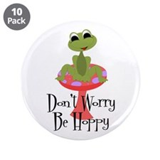 """Don't Worry Be Hoppy 3.5"""" Button (10 pack)"""