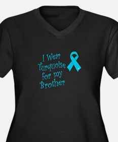 I Wear Turquoise for My Broth Women's Plus Size V-