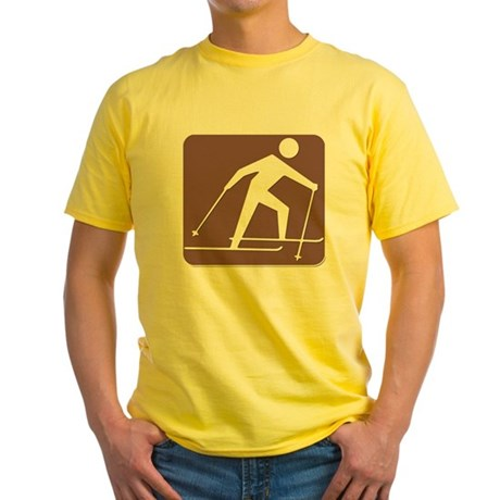Cross Country Ski Yellow T-Shirt
