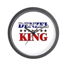 DENZEL for king Wall Clock
