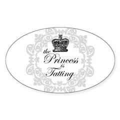 The Princess in Tatting Oval Decal
