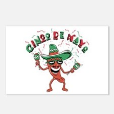 Cinco de Mayo Chili Pepper Postcards (Package of 8