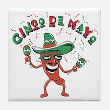 Cinco de Mayo Chili Pepper Tile Coaster