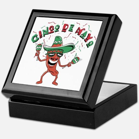 Cinco de Mayo Chili Pepper Keepsake Box