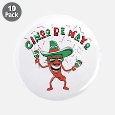 """Cinco de Mayo Chili Pepper 3.5"""" Button (10 pack)"""