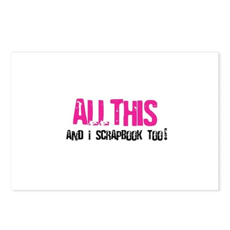 All This and I Scrapbook Postcards (Package of 8)