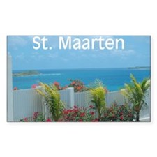 St. Maarten Seascape-1 Rectangle Decal