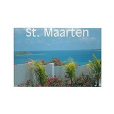 St. Maarten Seascape-1 Rectangle Magnet