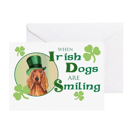 St. Patrick Irish Setter Greeting Card