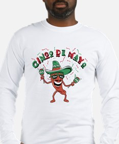 Cinco de Mayo Chili Pepper Long Sleeve T-Shirt