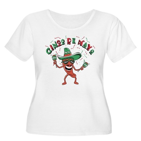 Cinco de Mayo Chili Pepper Women's Plus Size Scoop