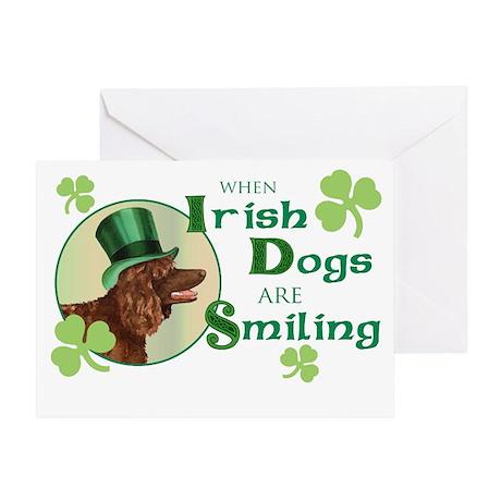 St. Patrick Irish Water Spani Greeting Card