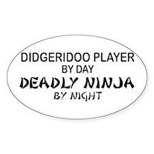 Didgeridoo Deadly Ninja Oval Decal