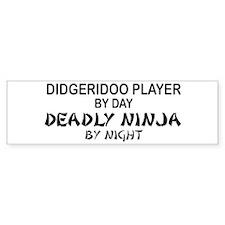 Didgeridoo Deadly Ninja Bumper Bumper Sticker