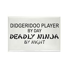 Didgeridoo Deadly Ninja Rectangle Magnet