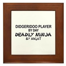 Didgeridoo Deadly Ninja Framed Tile
