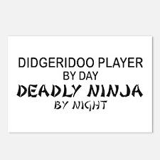 Didgeridoo Deadly Ninja Postcards (Package of 8)