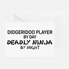 Didgeridoo Deadly Ninja Greeting Cards (Pk of 10)
