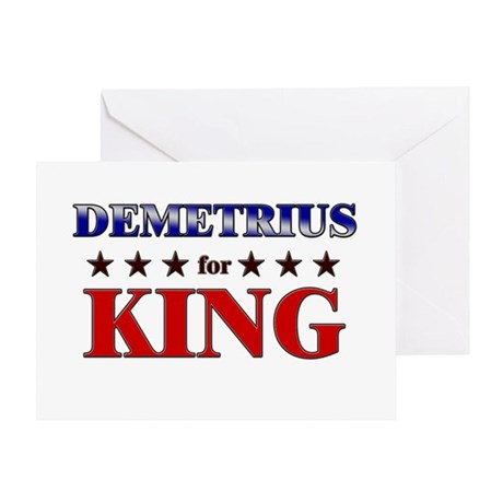 DEMETRIUS for king Greeting Card