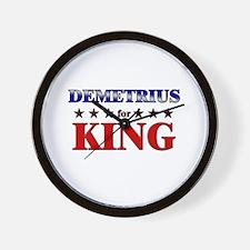 DEMETRIUS for king Wall Clock