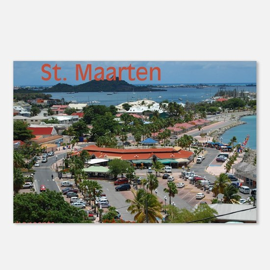 St. Maarten-Downtown by Khonc Postcards (Package o